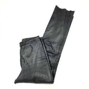 Wilsons Leather Black  Hide Motorcycle Pants W 6